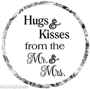 HUGS AND KISSES HERSHEY KISS WEDDING LABELS – GLOSSY OR MATTE ...